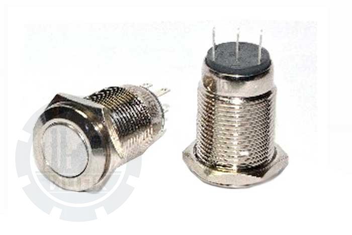 Кнопка металлическая TYJ 16-212 фото №1