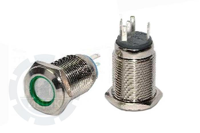 Кнопка металлическая TYJ 16-262  фото №1