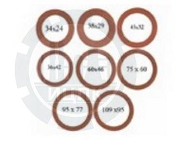 Прокладки уплотнительные биконитовые для муфтовых соединений фото №1