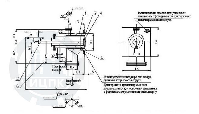 Горелка газомазутная ГМГ-2 фото №2