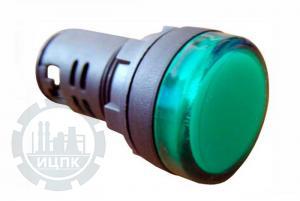 Фото арматуры светосигнальной AD22-22DS зеленой 24 В AC/DC