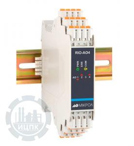 Модуль аналогового вывода 4-х канальный RIO-AO4  фото 1