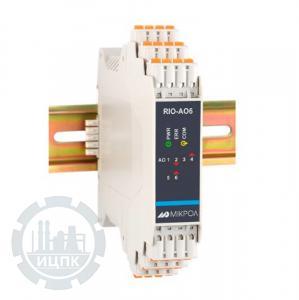 Модуль аналогового вывода 6-ти канальный RIO-AO6  фото 1